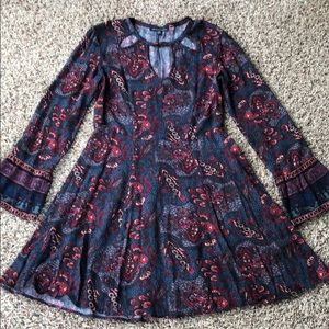 American Eagle Dress XS paisley floral print